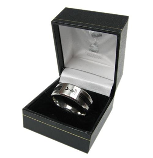 Tottenham Hotspur F.C. Black Inlay Ring Small