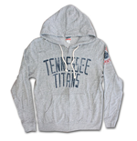 TENNESSEE TITANS Vintage Zip Up Junk Food Brand Hoodie