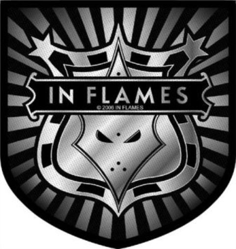 In Flames   Shield Logo   Patch