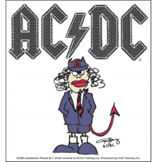 AC/DC Cartoon Angus Sticker