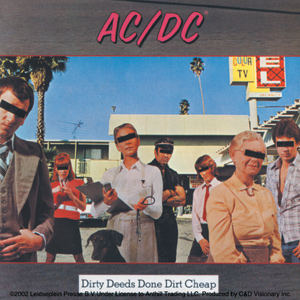 AC/DC Dirty Deeds Sticker