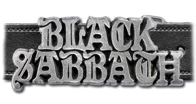 Black Sabbath Logo Buckle