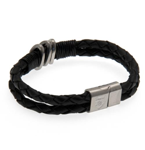 Arsenal F.C. Leather Bracelet