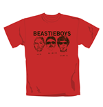 Beastie Boys T Shirt Red Faces. Emi Music officially licensed t-shirt.