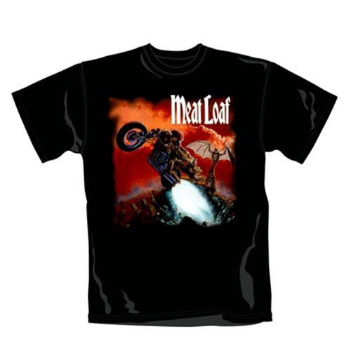 Meat Loaf T Shirt Bat Out Of Hell. Emi Music officially licensed t-shirt.