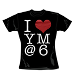 You Me At Six T Shirt I Heart. Emi Music officially licensed t-shirt.