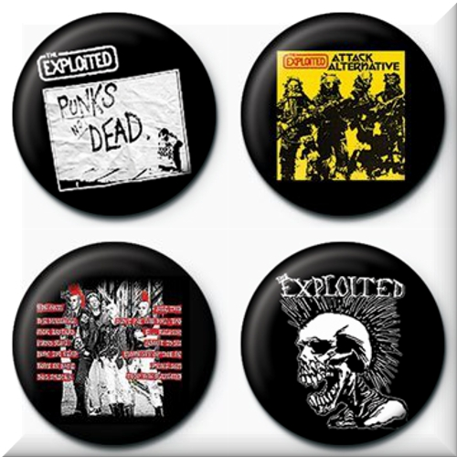 The Exploited 4 Badges Badgepack 3