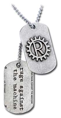 Rage Against Machine Logo Dogtags