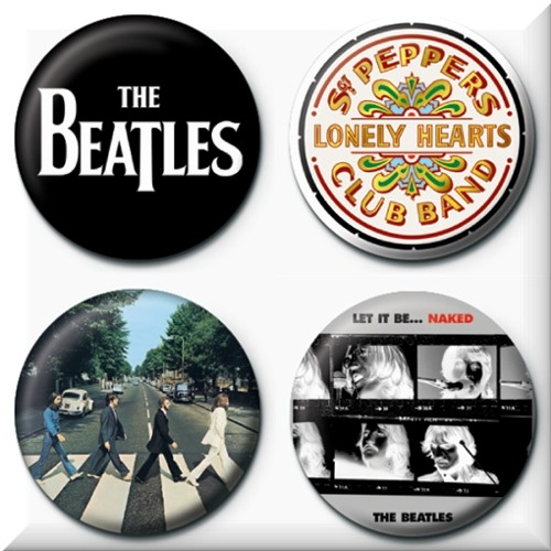 The Beatles 4 Badges Badgepack 2