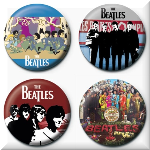 The Beatles 4 Badges Badgepack 7