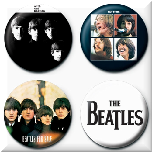 The Beatles 4 Badges Badgepack 6