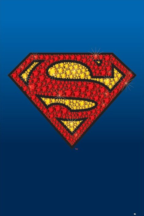 Superman   Diamonds   Poster