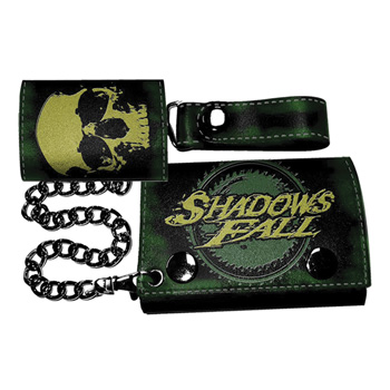 Shadows Fall Skull Leather Wallet