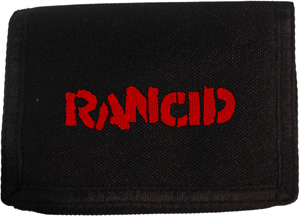 Rancid Logo Velcro Wallet