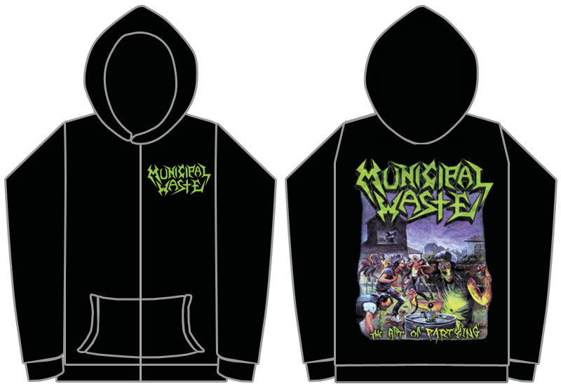 Municipal Waste   The Art Of Partying   Zip Hoodie