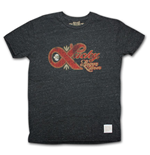 Vintage Retro LUCKY Lager T Shirt Heather Grey
