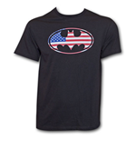 BATMAN American Flag Shirt Black