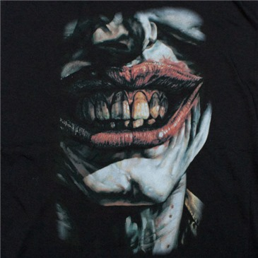 Official Batman Joker Smile Of Evil Shirt Black Buy Online On Offer Smile (though your heart is breaking). batman joker smile of evil shirt black