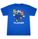 MARIO and Luigi Fan T Shirt Blue