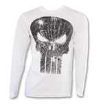 PUNISHER Cracked Skull Image Thermal White