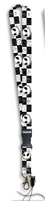 Nightmare Before Christmas Faces Lanyard