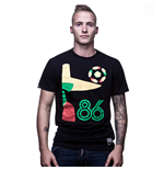 Mexico 86 Vintage T-Shirt   Black