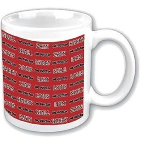 One Direction Mug Tiled Names. Emi Music officially licensed product.