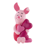Winnie the Pooh Figure Piglet with Hearts 6 cm