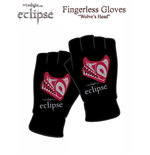 Twilight Eclipse Gloves (Fingerless) Wolves Head