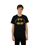 Batman T-Shirt Grunge Symbol   Black
