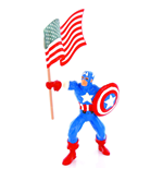 Marvel Comics Mini Figure Captain America & Flag 10 cm