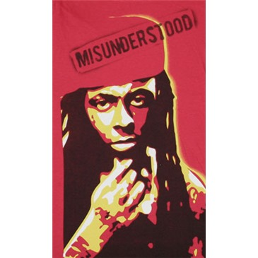 Buy Official Lil Wayne Misunderstood Red Juniors Graphic