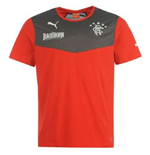 2013-14 Rangers Puma Cotton T-Shirt (Red)