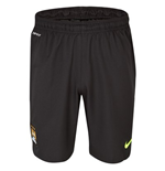2013-14 Man City Home Nike GK Shorts (Black) - Kids