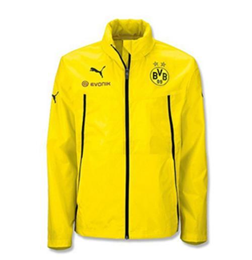 Buy Official 2013 14 Borussia Dortmund Puma Rain Jacket Yellow