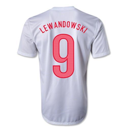 save off 50c83 1c310 2012-13 Poland Home Shirt (Lewandowski 9)